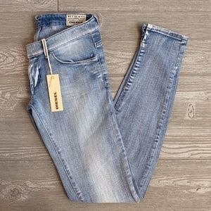 NWT DIESEL Cherick Faded Stretch Jeans 25x34